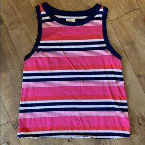 Kate Spade NWOT striped top with bow, size XL